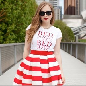 T&J designs Red soles and red wine tee shirt top